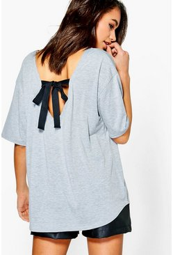 Tiffany Tie Back Oversized T-Shirt