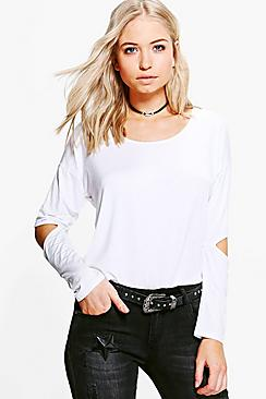 Isabelle Oversized Cut Out Elbow Top