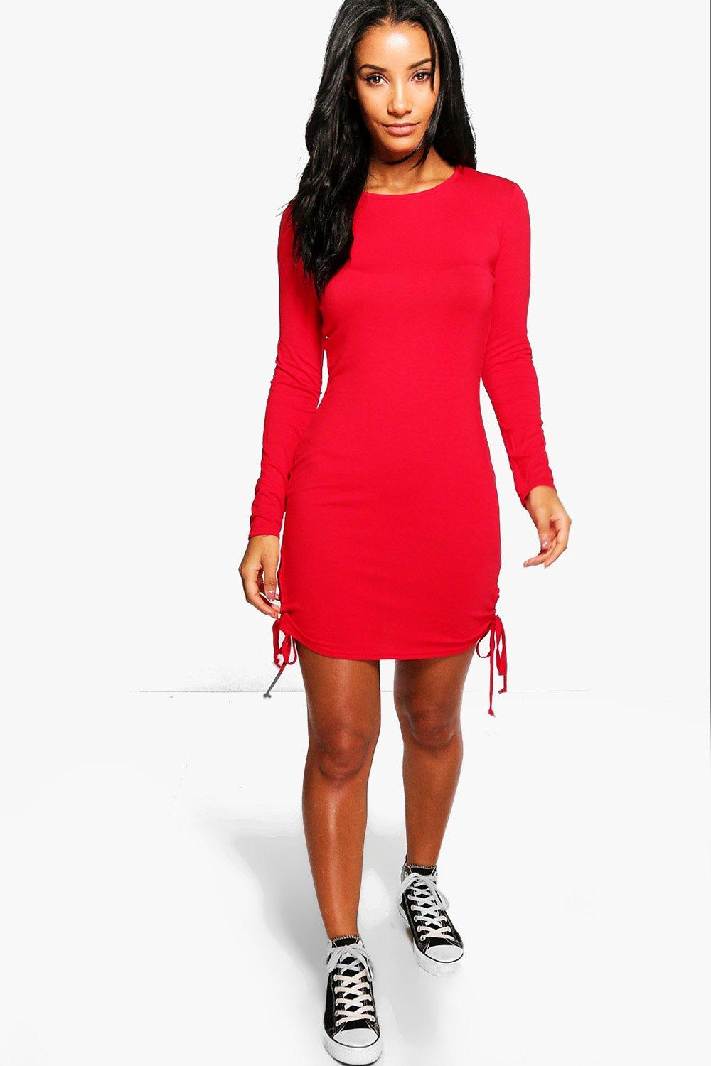 Flossie Long Sleeve Lace Up Bodycon Dress