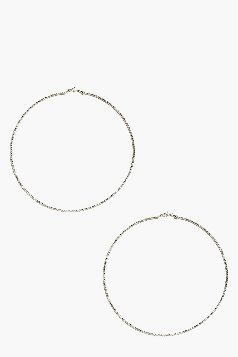 Emilia Textured Hoop Earrings