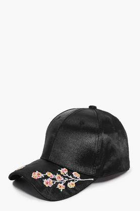 Evelyn Embroidered Satin Baseball Cap