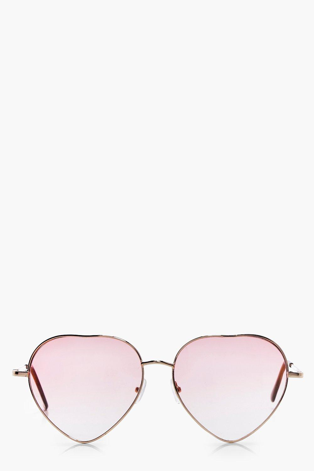 1960s Accessories Alice Pink Ombre Lense Heart Sunglasses pink $6.00 AT vintagedancer.com