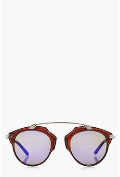 Lacey Blue Lense Brow Bar Sunglasses
