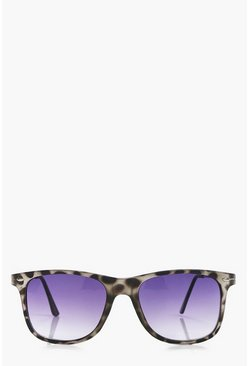 Lilly Grey Tortoise Wayfarer Sunglasses