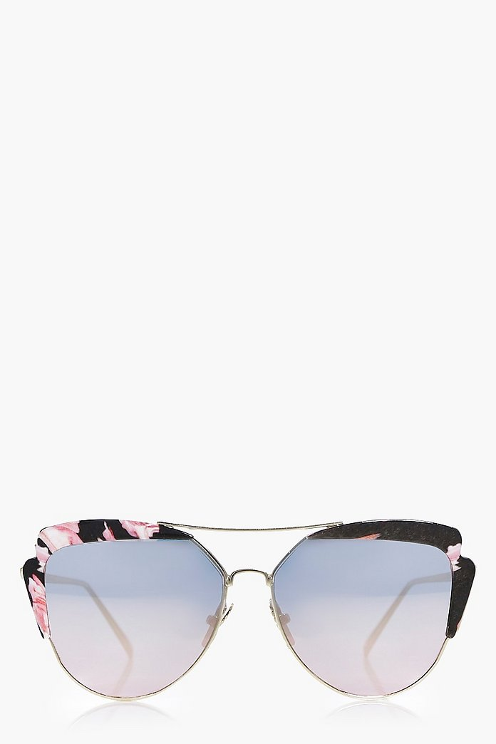 Sarah Contrast Lense Cat Eye Sunglasses