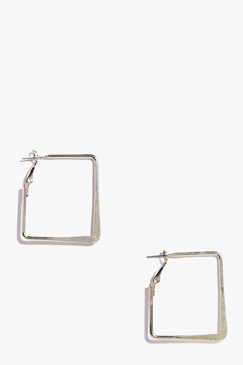Ella Gold Square Hoop Earrings