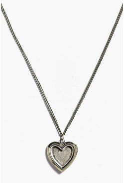 Faye Antique Heart Locket Necklace