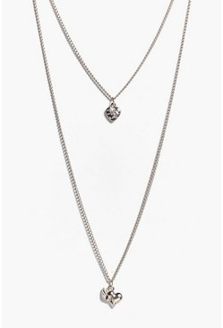 Freya Love Heart Pendant Layered Necklace
