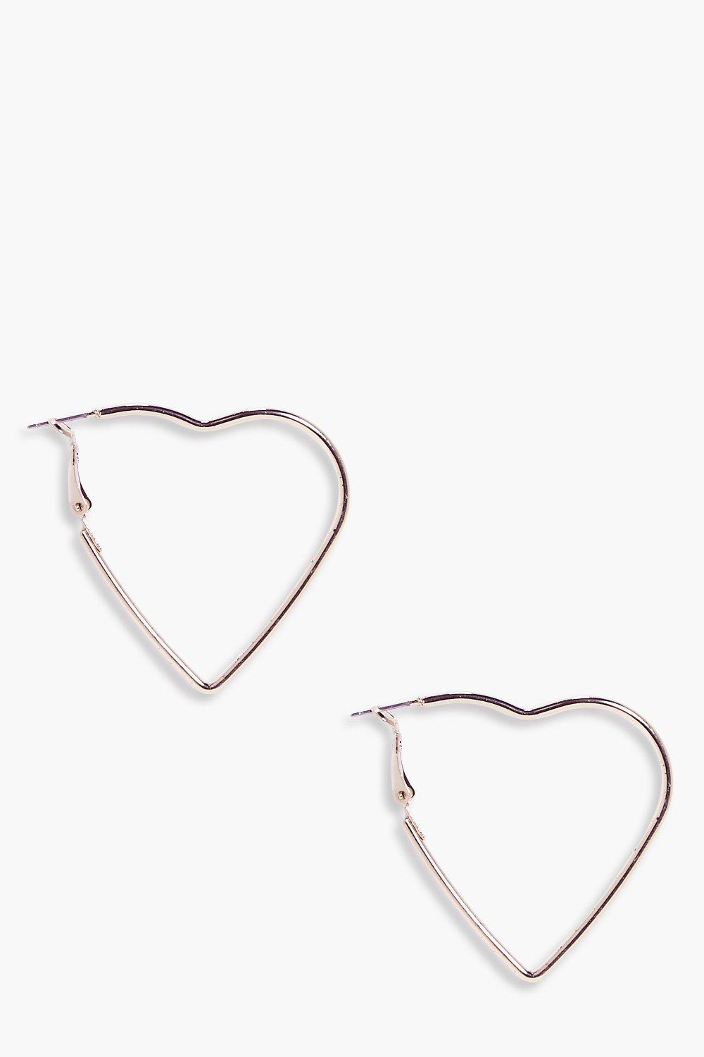 Heart Hoop Earrings  rose gold