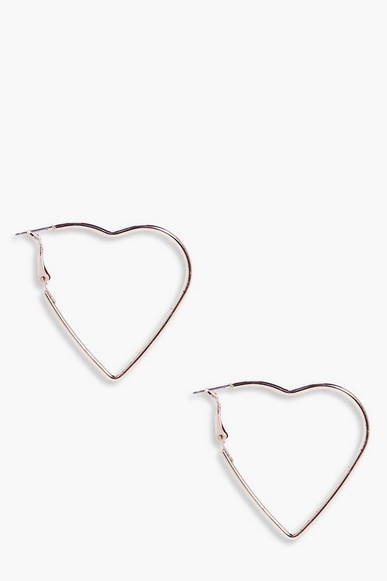 Jemima Heart Hoop Earrings