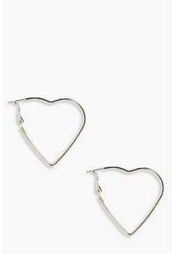 Julia Gold Heart Hoop Earrings