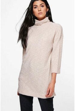 Eleanor Soft Knit Funnel Neck Jumper