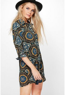 Ingrid Paisley Shirt Dress