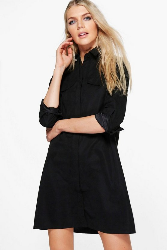 Greta Long Sleeve Midi Shirt Dress