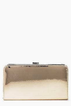 Maria Mirror Box Clutch Bag