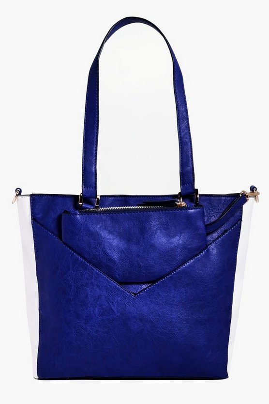 Mia Colourblock Shopper With Purse