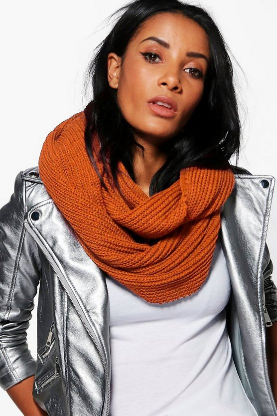 Natasha Fishermans Knit Oversize Snood