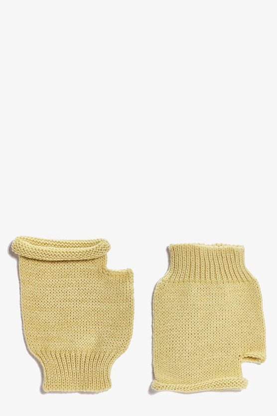 Annabel Fingerless Soft Knit Mittens