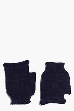 Lois Fingerless Soft Knit Mittens