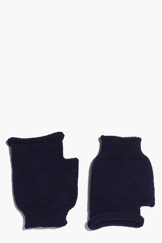 Lois Fingerless Soft Knit Mittens