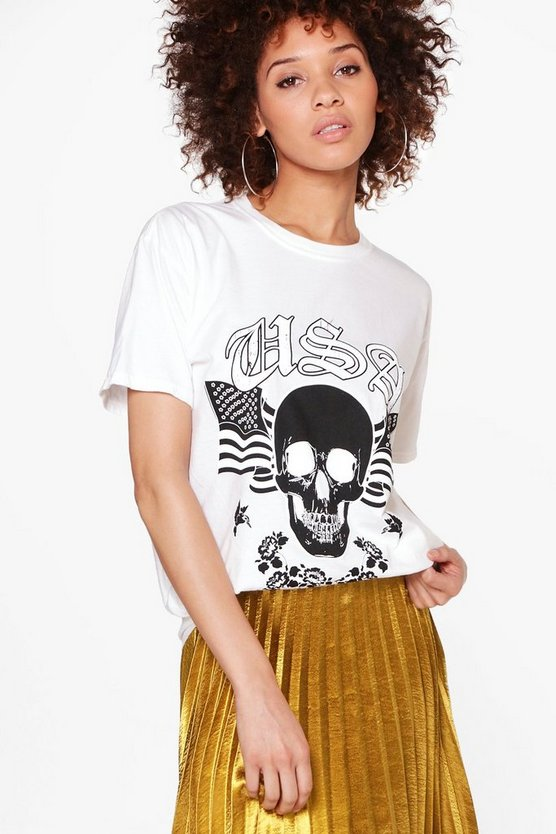Audrey Washed Print T-Shirt