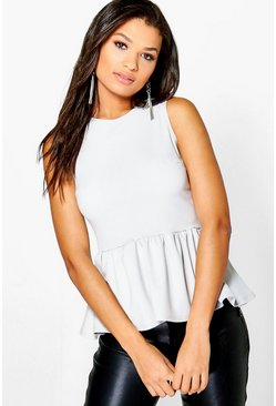 Faith Sleeveless Peplum Top