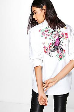 Samantha Boutique Embroidered Back T-Shirt
