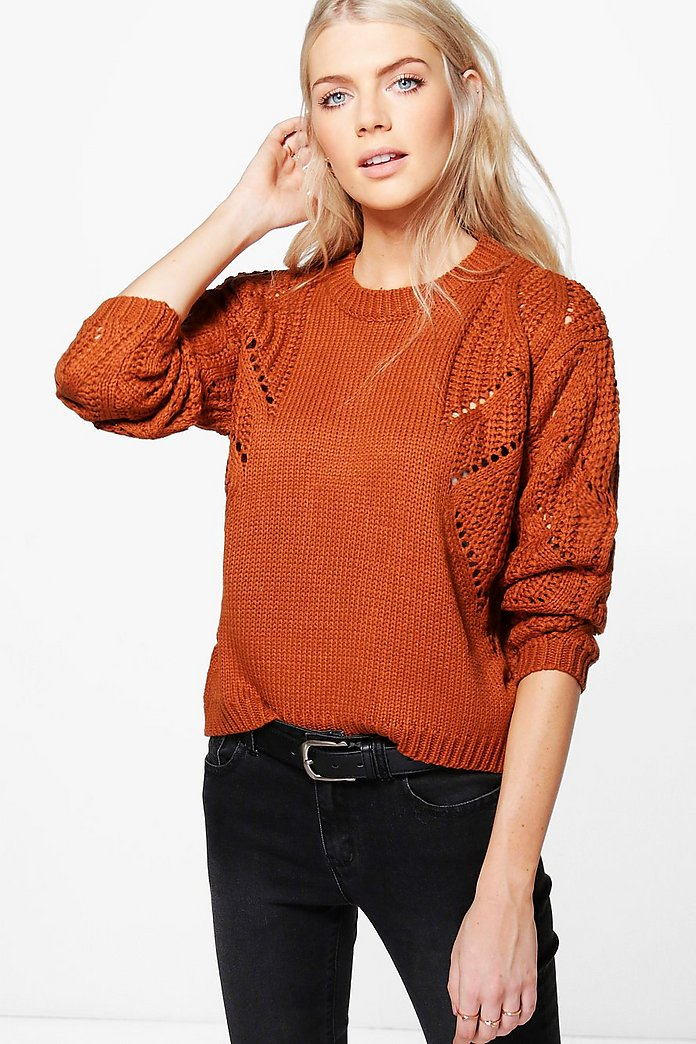 Libby Cable Sleeve Jumper