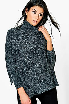 Nicole Asymmetrical Cowl Neck Jumper