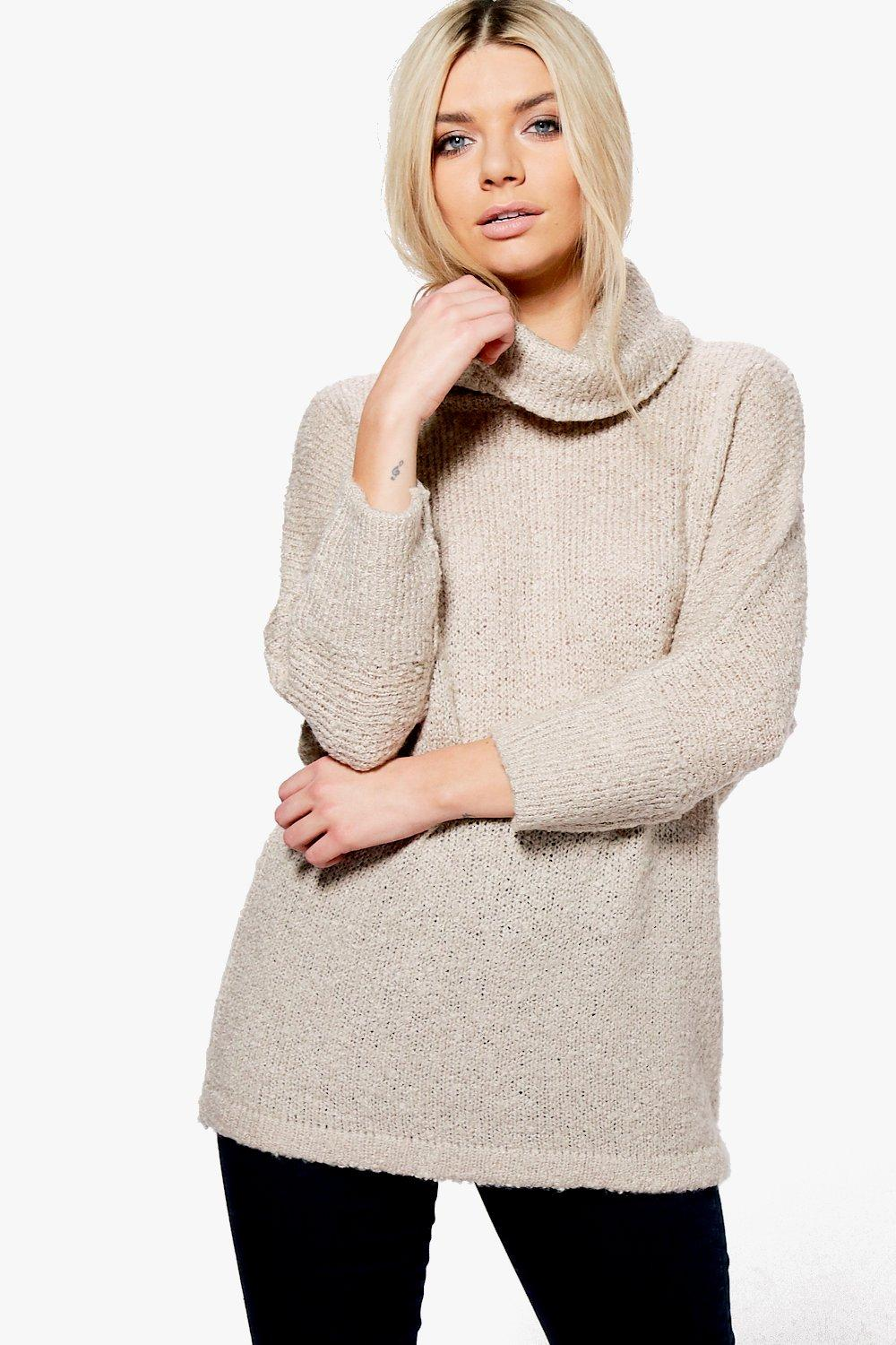 Elise Boucle Roll Neck Jumper