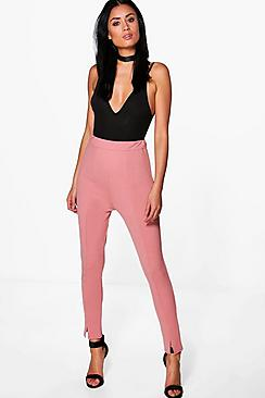 Sahara Seam Front Split High Waist Crepe Leggings