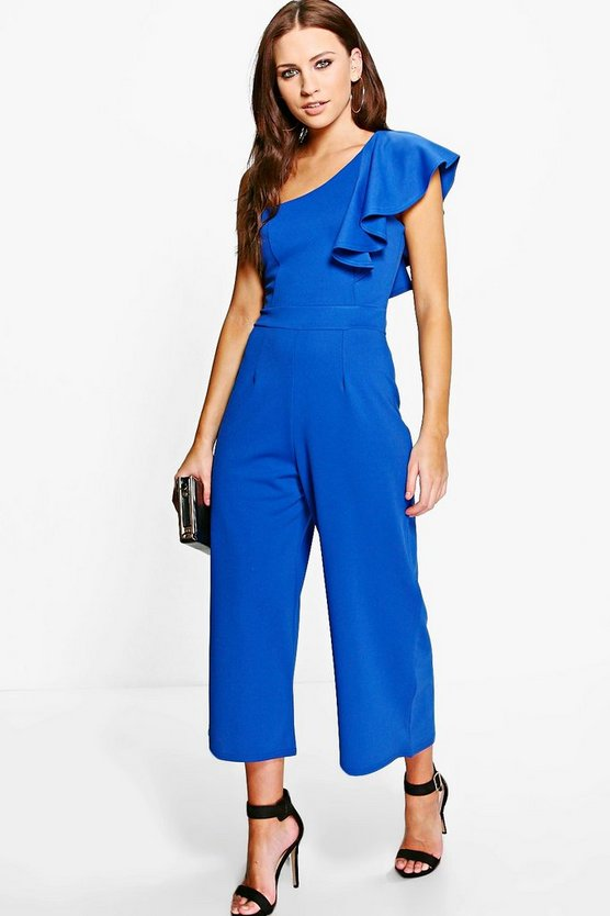 Amy One Shoulder Frill Jumpsuit