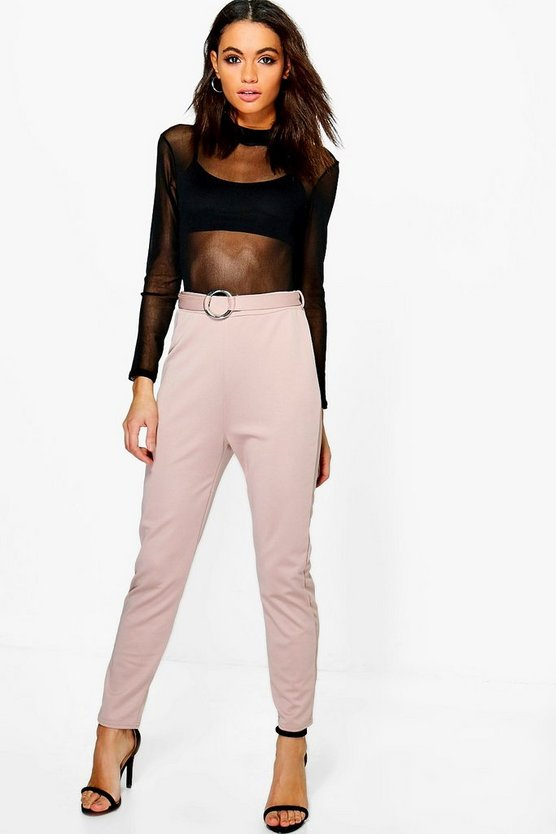 Millie Belted Ring Detail Slim Fit Trousers