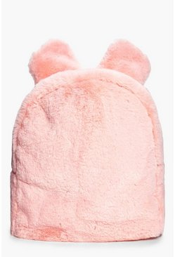Frankie Bunny Ears Faux Fur Backpack