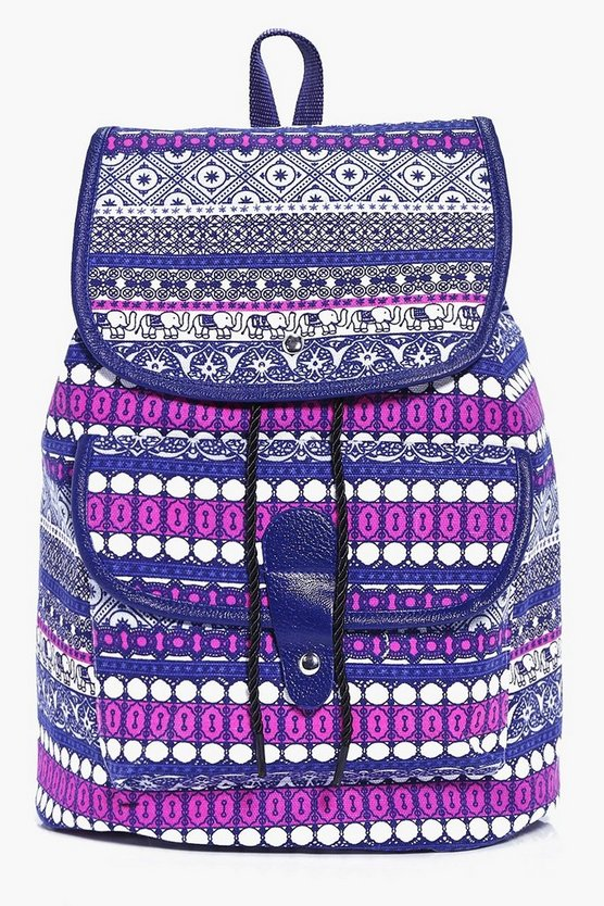 Lizzie Elephant Paisley Print Backpack