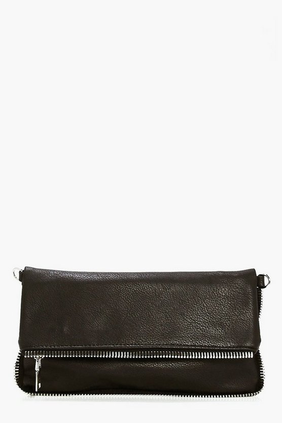 Edie Zip Edge Fold Over Clutch Bag