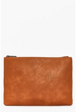 Iris Zip Top Clutch Bag