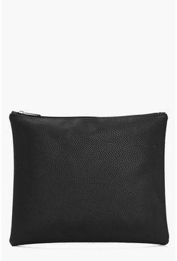 Hope Oversize Zip Top Clutch Bag