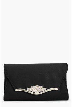 Macey Metal Filigree Trim Clutch Bag