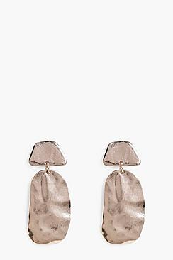 Faye Molten Effect Drop Earrings