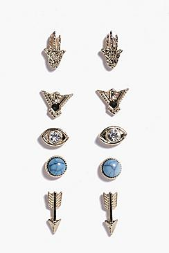 Natalia Mixed Design Stud Earring Pack