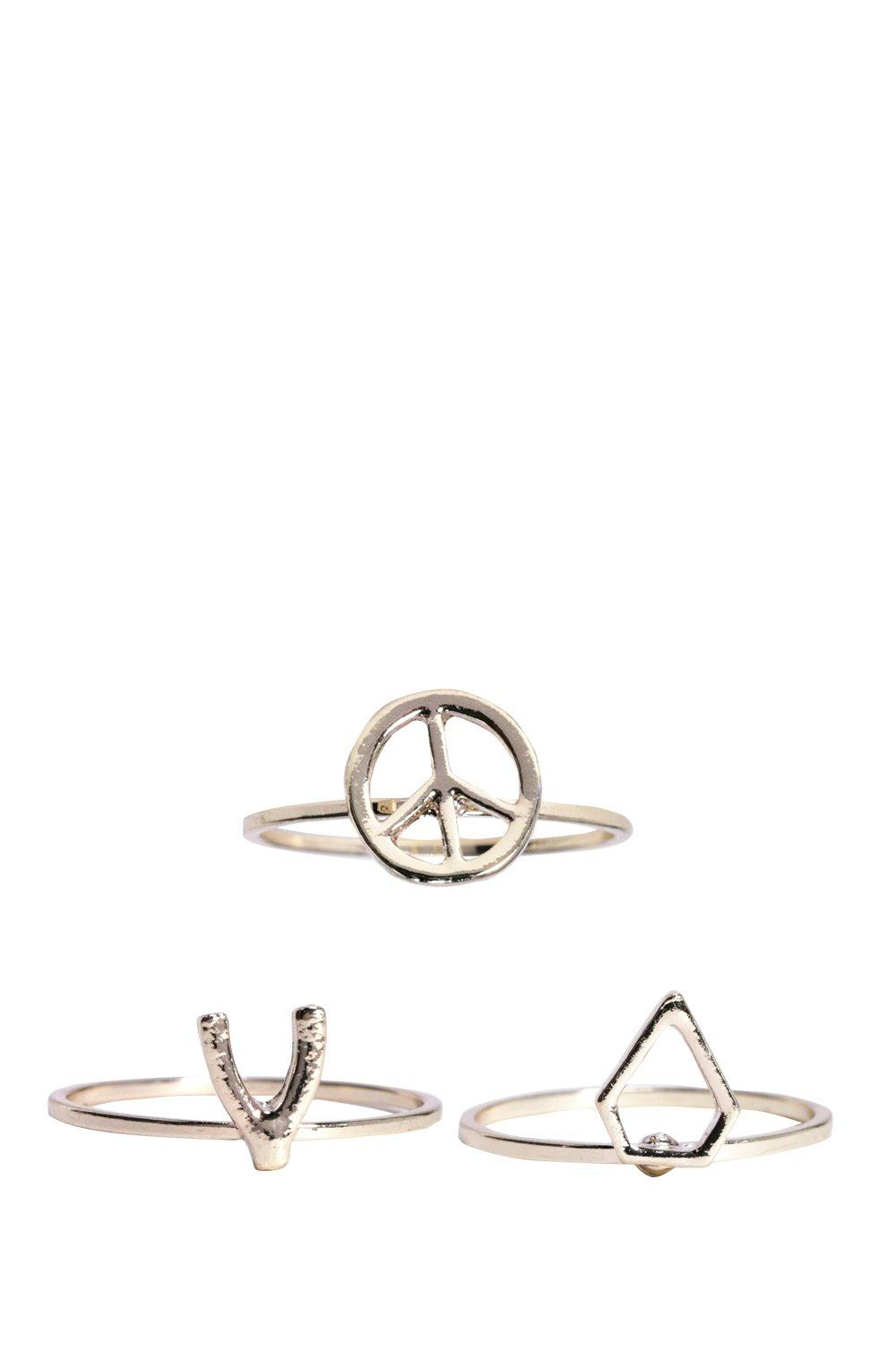 Serena Peace Wish Bone Diamond Ring Pack