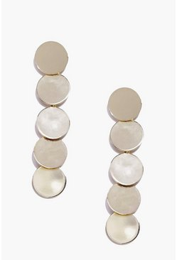 Alicia Layered Round Metal Earrings