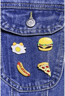 Fast Food Mixed Design Enamel Badge Set