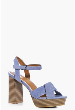 Lauren Knotted Front Denim Platform