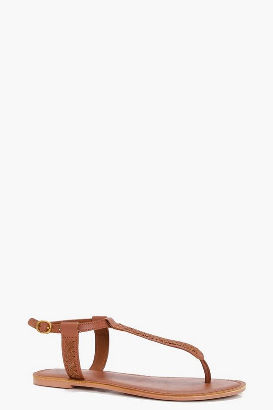 Lois Thong Leather Sandal