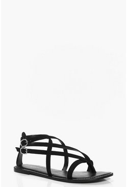 Willow Suede Thong Wrap Strap Sandal