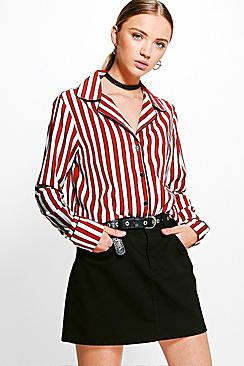 Hayley Stripe Oversized Shirt