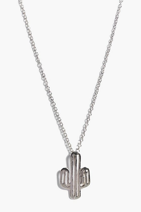 Jennifer Cactus Pendant Charm Necklace