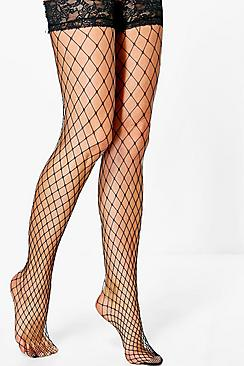 Edith Large Net Fishnet Stockings
